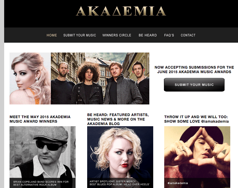 "Head over Heels WINS Akademia best ""Blues/Pop"" album for May 2015"